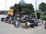 The items collected at the City Hall electronics recycling event