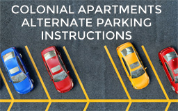 Colonial Apartments Alternate Parking Instructions